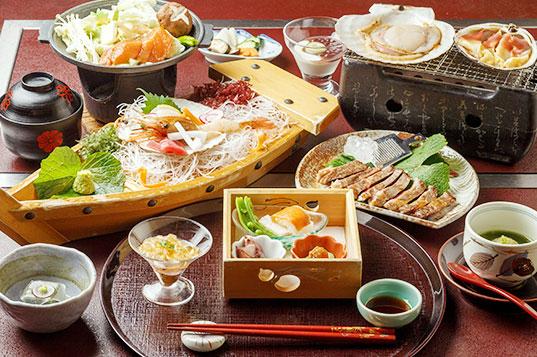 季節料理を彩る旬の味覚を贅沢に。