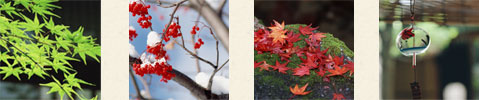 四季の風情につつまれて、心やすらぐ至福のとき。